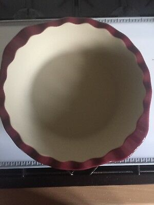 Pampered Chef Deep Dish Pie Plate Cranberry 1332-03