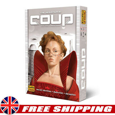 Coup Card Game The Dystopian Universe Indie Boards & Cards Xmas Fun Gifts UK