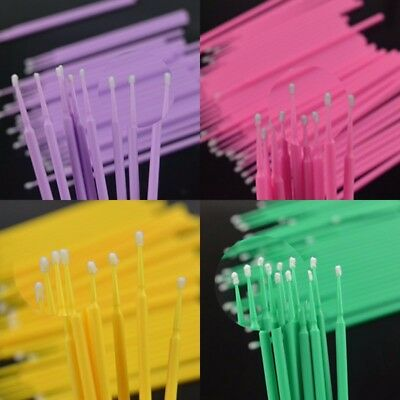100pcs/50pcs Disposable Dental Micro Brush Materials Tooth Applicators Medium