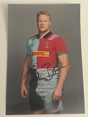 Renaldo Bothma- Harlequins Rugby Player Signed 6x4 Photo