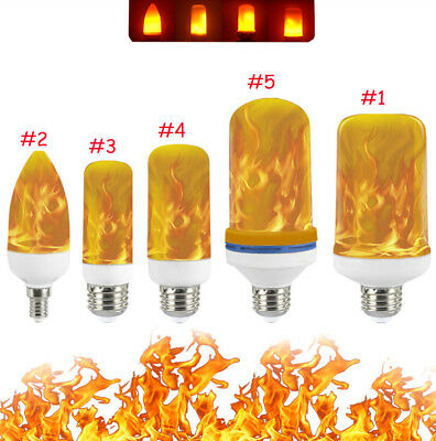 US Stock LED Flame Effect Fire Light Bulbs E27 Simulated Nature Flicking Lamps