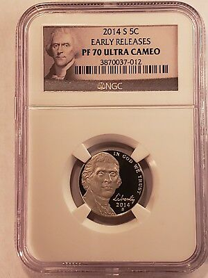 Ngc 2014 S Jefferson Nickel Proof 70 Ultra Cameo Early Releases Portrait Label