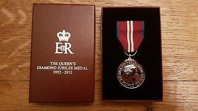 Queens diamond jubilee medal in original box