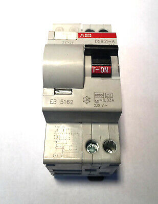 Asea Brown Boveri ABB 0.03A Leak Proof Circuit Breaker DS951-A C10 NOS