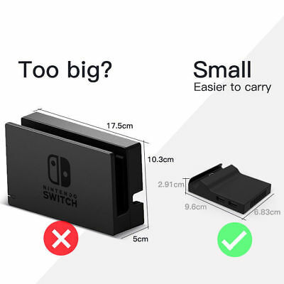 Portable Replacement Base Mini Cover With Screws Nintendo Switch Docking Station