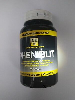 Fusion Supplements Phenibut500mg     90 Caps    U.S.A made