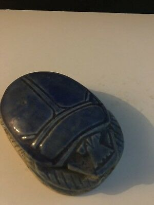 Rare Ancient Egyptian Dark Blue Scarab Middle Kingdom (2000 BCE)