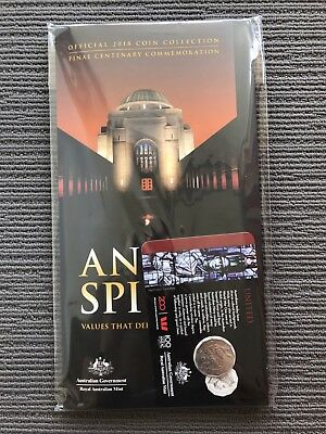 2018 Anzac Spirit Coin Collection Day 1 50 Cent United and Official RAM Folder