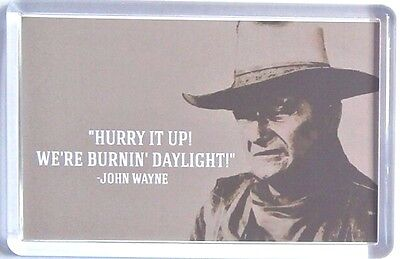 John Wayne quote movie poster Fridge Magnets New - The Cowboys Rooster Cogburn
