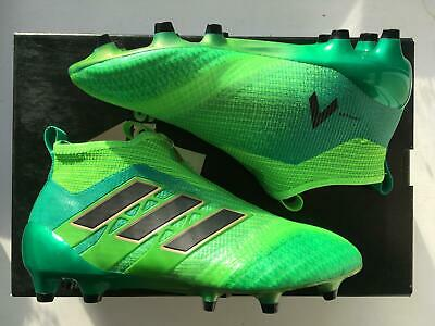 new style fbabe 4a3fd ADIDAS ACE 17+ Purecontrol FG Junior Football Boots Green Laceless Kids ~  SIZE 4