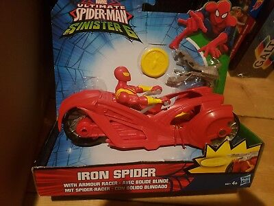 Ultimate Spider-Man Vs The Sinister Six Iron Spider With Armor Racer