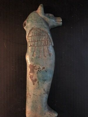Rare Large Ancient Egyptian Anubis Pendant Amulet 26th DYN 680 Bc