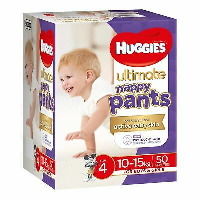 Huggies Ultimate Nappy Pants Size 4 (10-15kg) Unisex 50 Pack