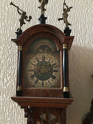 wall clock weight driven vintage moon phase wall clock working