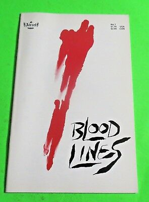 Blood Lines #1 Aircell Comics Copper Age (1987) C3057