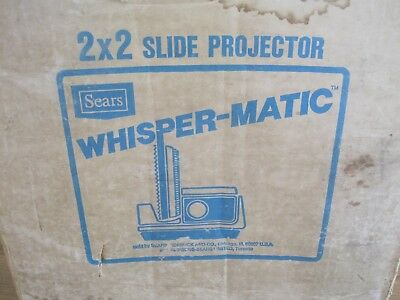 Whisper Matic 2x2 Slide Projector by Sears - # 3987 - Good Condition