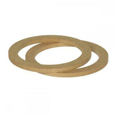 "5.25"" 130mm Pair of MDF Speaker Spacer Mounting Rings 8mm Thick ID 118mm"