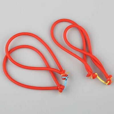 2 X  Fishing Slingshot Catapult Elastic Rubber Tube Band Red for Hunting Archery