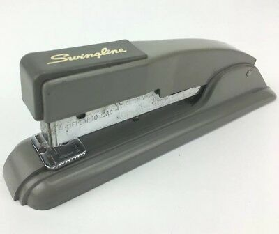 Vintage Swingline # 4 Deck Top Stapler Staple Gun Corp USA Industrial Works Gray
