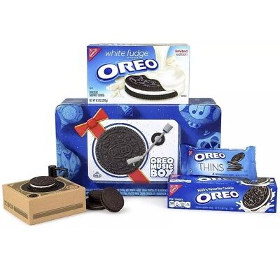 Oreo Music Box Cookie Record Player Collectible Holiday Gift Rare Arrive B4 Xmas