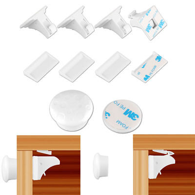 4PCS Magnetic Cabinet Drawer Cupboard Locks for Baby Kids Safety Proofing Kit