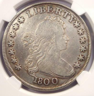 1800 Draped Bust Silver Dollar $1 AMERICAI - NGC Fine Details - Rare Coin!