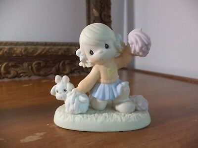 Precious Moments Figurine It's Ruff to be always Cheery  1997  # 272639