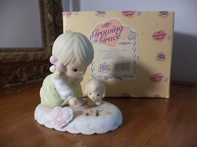 Precious Moments growing in Grace Age 8  Blonde Girl 163759 Shooting Marbles