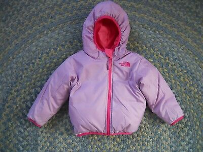 Infant Girls The North Face Reversable zip Hooded Jacket 6-12 Months