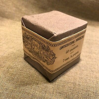WWI French Army Scaferlati Tobbacco ration