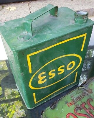 1x vintage esso petrol can advertising collectable display automobilia pump fuel