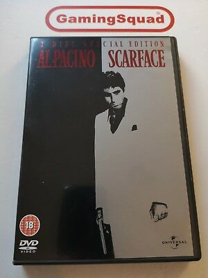 Scarface (2 Disc) DVD, Supplied by Gaming Squad