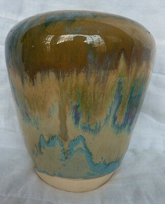 "Art Pottery Hand Made 5"" Vase Signed ""Patti XR4"" From A West Side NYC Collection"