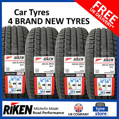 New 205 55 16 RIKEN ROAD PERF 205/55R16 2055516 *MADE BY MICHELIN* (2,4 TYRES)