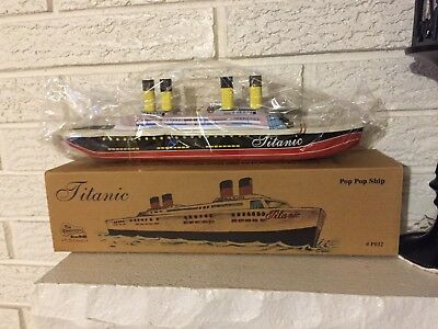 Titanic Tin Litho Toy Steam Pop Pop Boat Ship Replica Quality Toy Dl