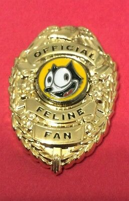 "Felix The Cat ""official Feline Fan"" Badge Style Lapel Pin"