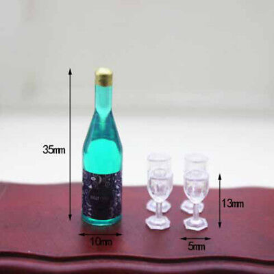 1:12 Dollhouse miniature accessories mini bottle + 4 cup  HF