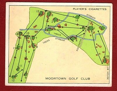 JOHN PLAYER 1936 CHAMPIONSHIP GOLF COURSE  Card No 18  GOLF CLUB  MOORTOWN
