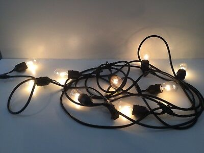 48FT LED Outdoor Waterproof Commercial Grade Patio Globe String Lights 12 Bulbs