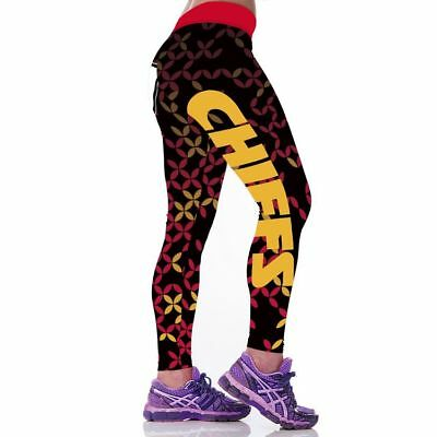 Kansas City Chiefs leggings S/M-XXL (4-16) Football Game Gear Women Gift KC