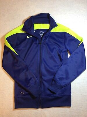 Nike Dry-fit Athletic Zip Front Jacket Size Medium headset whole in pocket