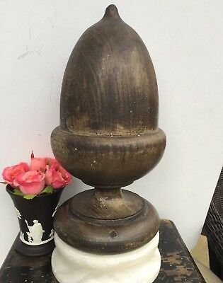 Antique Wood Finial Architectural Salvage Fragment Newel Post Treenware