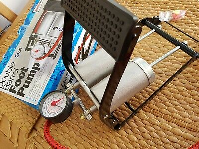 New Low Price! Streetwize Double Barrel Foot Pump - New in box