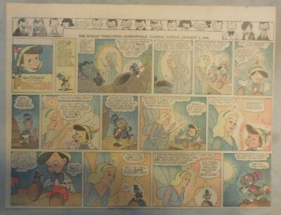 Pinocchio All Sunday Pages by Walt Disney from 12/31- 4/7/1940 Half Page Size