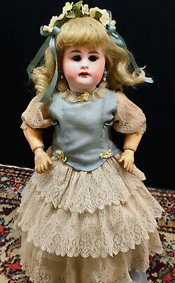 """Very Early Kestner 14"""" CABINET SIZE # 7 Antique Doll - Bisque Head German JDK"""