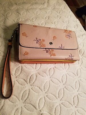 beee5a8911 COACH 29608 TRIPLE small wallet in colorblock with floral bow print  150  NWT -  105.00