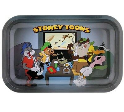 """Looney Toons Bugs Bunny Daffy Duck Tobacco Herb Rolling Tray Medium Size 7""""x11"""""""