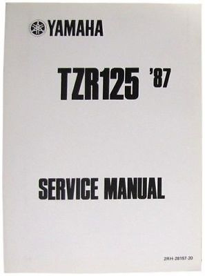 """NEW OEM YAMAHA Manual For Yamaha TZR125 1987 TO 1992 O.E. Service """"OFFER"""""""