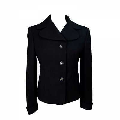 5e833de36 OLIVER BY VALENTINO Jacket Wool Vintage Black