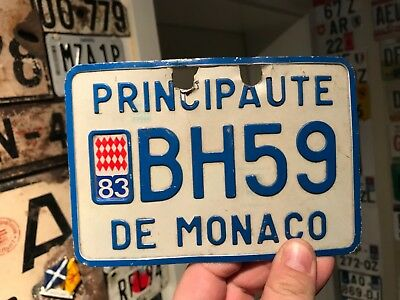 Very rare and nice Monaco motorcycle license plate 1983